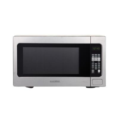 GE 1 6 cu  ft  Countertop Microwave in Stainless Steel with