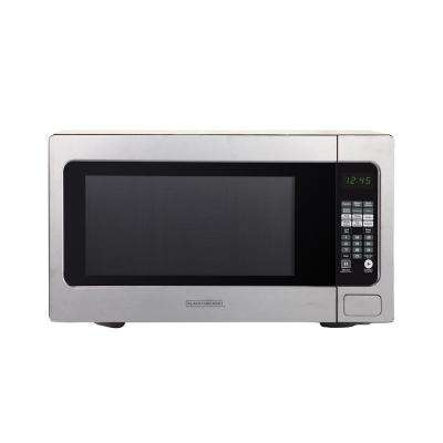 2.2 cu. Ft. Countertop Digital Microwave in Stainless Steel with Sensor Cooking Technology