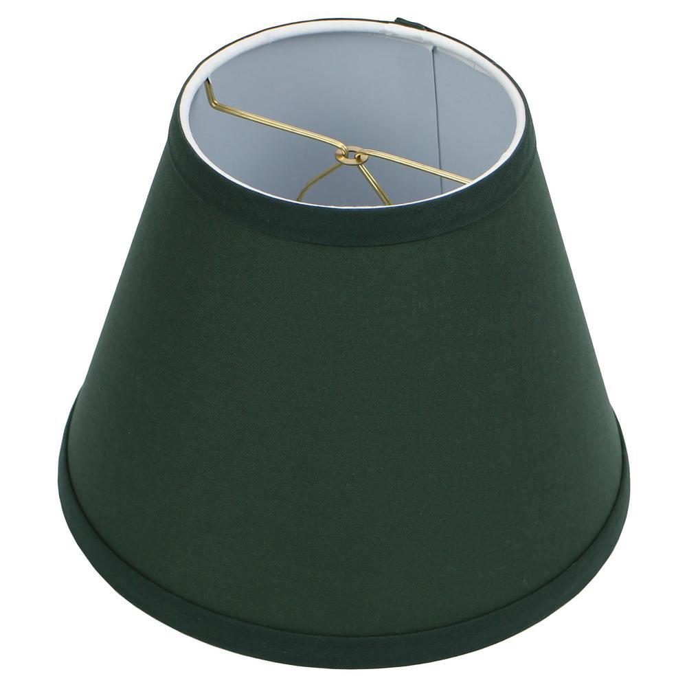 5 in. Top Diameter x 9 in. Bottom Diameter x 7 in. Slant Linen Hunter Green Empire Lamp Shade