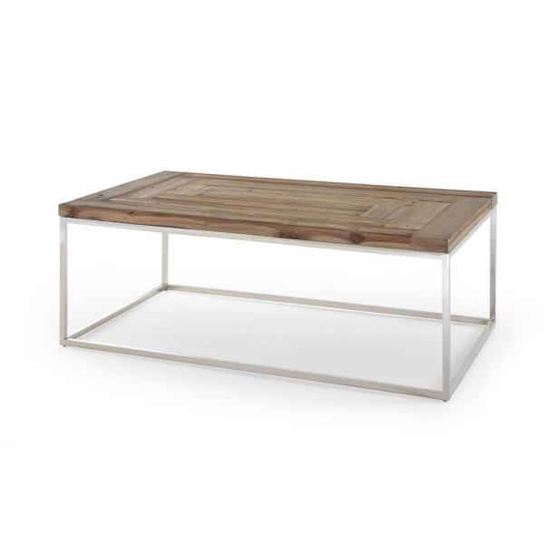 Ace 50 In Reclaimed Wood Large Rectangle Wood Coffee Table 6jc221 The Home Depot
