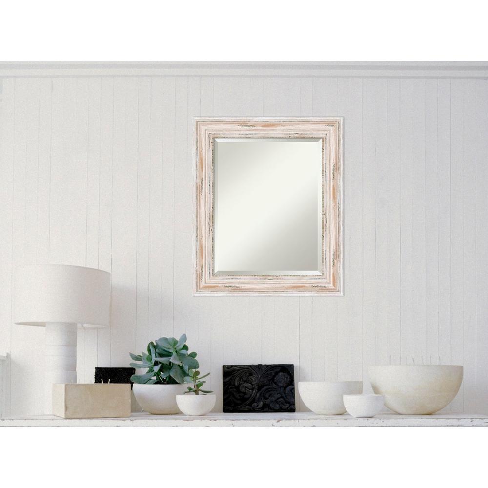 Amanti Art Alexandria White Wash Wood 21 In W X 25 H Distressed