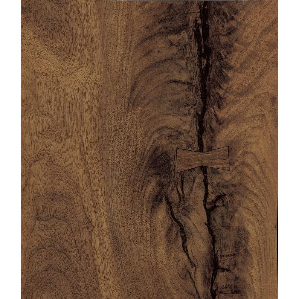 FORMICA 5 in. x 7 in. Laminate Sample in Black Walnut Timber Matte