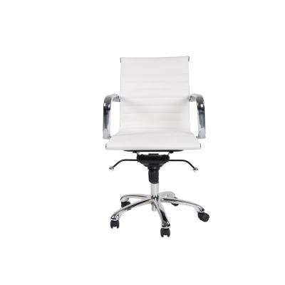 Delancey Mid-Back Adjustable White Office Chair