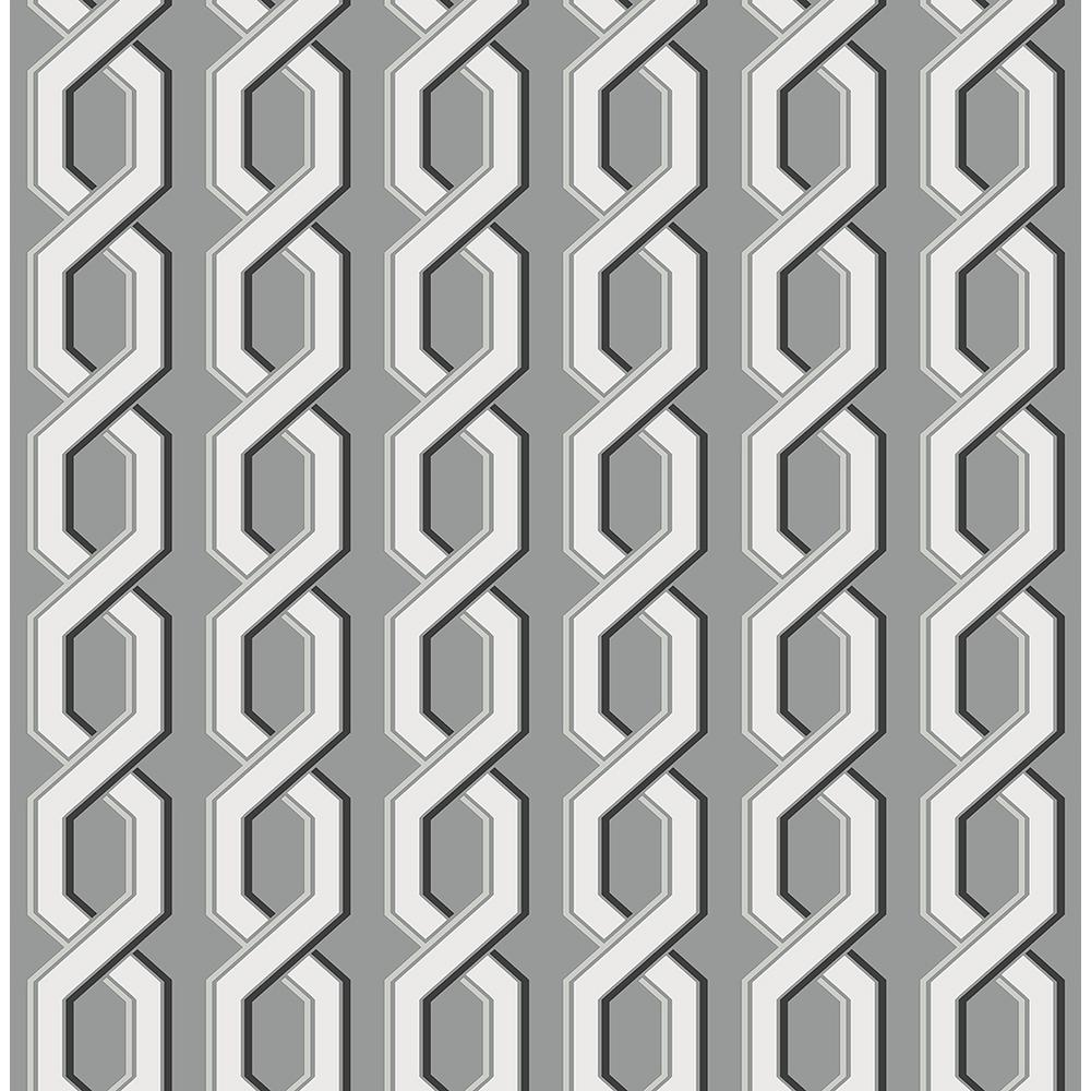 Brewster Twist Black Geometric Wallpaper 2704 22689 The