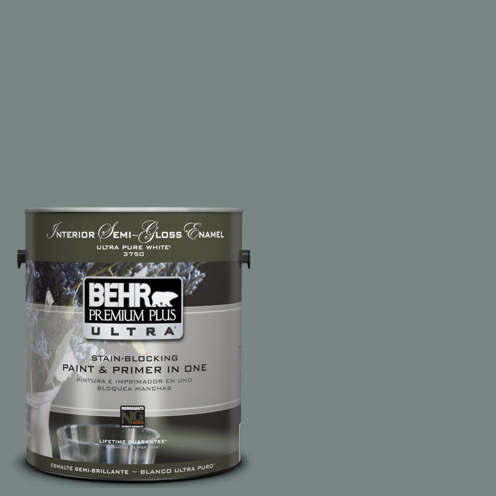 BEHR Premium Plus Ultra 1-gal. #UL220-21 Juniper Ash Interior Semi-Gloss Enamel Paint