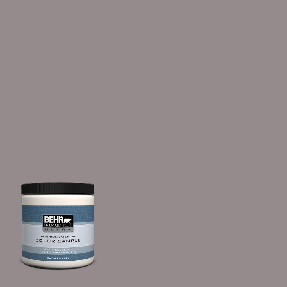 Behr Premium Plus Ultra 8 Oz T18 03 Graylac Satin Enamel