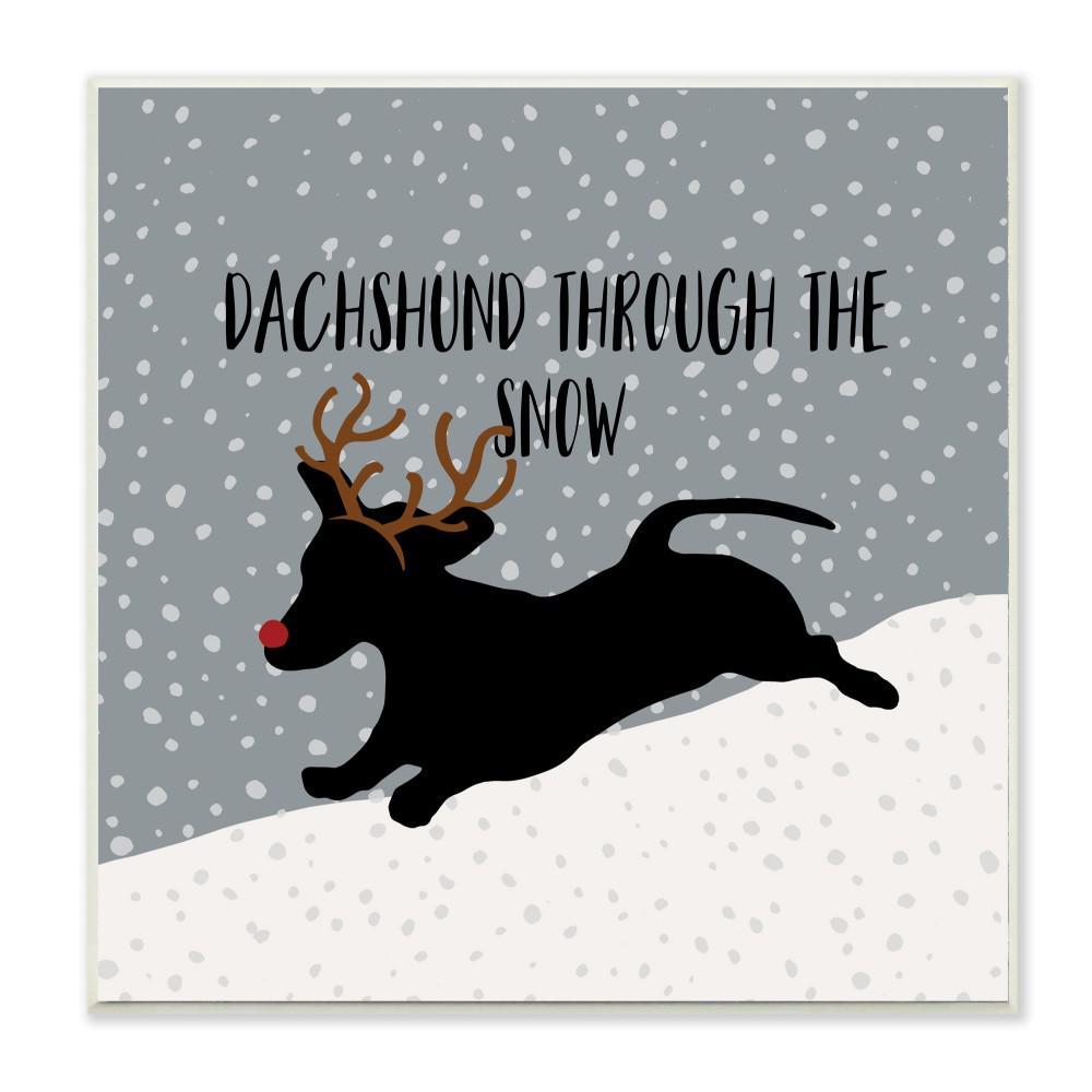 "/""Happy Holidays/"" WEINER DOG w// SWEATER Door Wall hanging 12.5/"""
