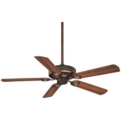 Ultra-Max 54 in. Belcaro Walnut Ceiling Fan with Wall Control and Remote Control