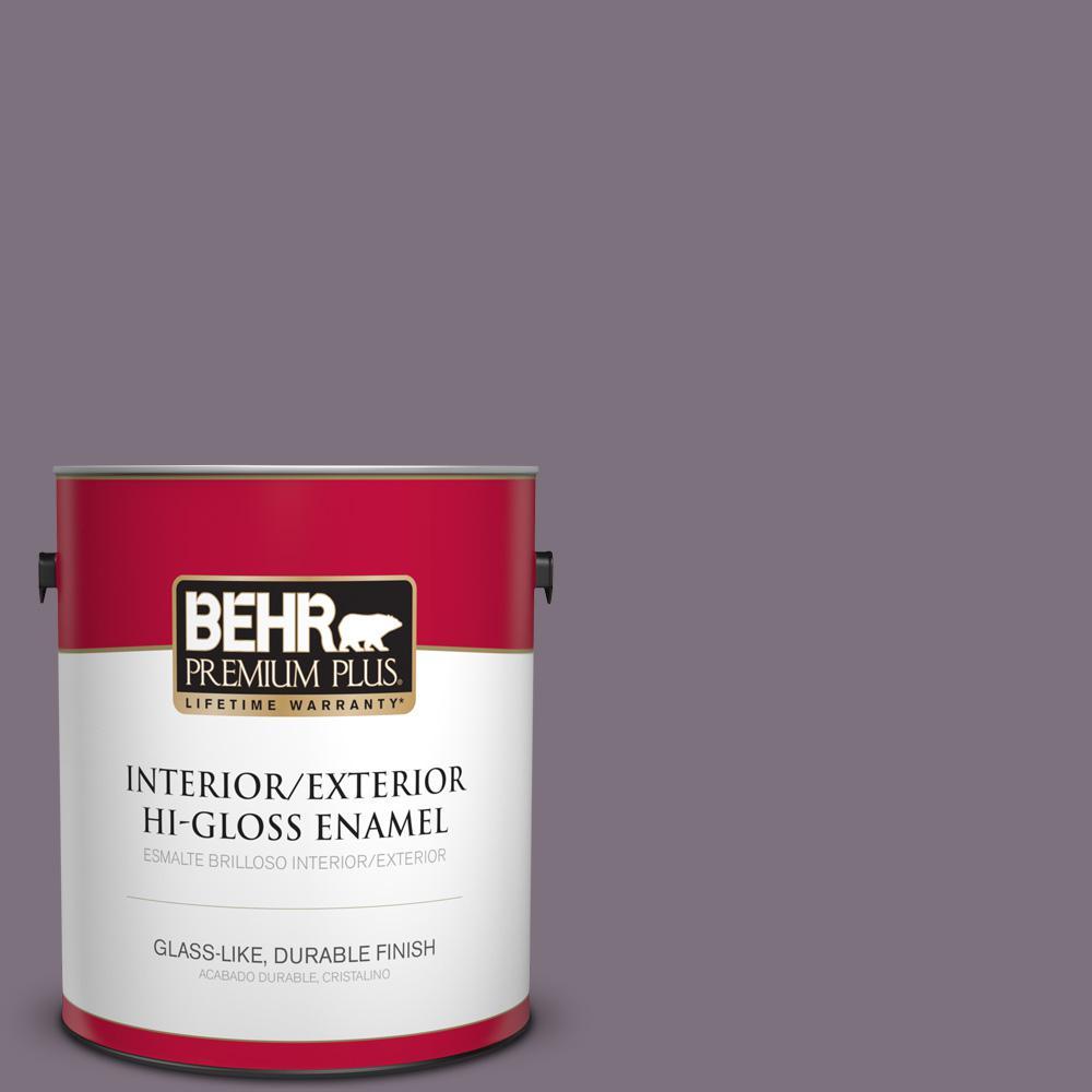 1 gal. #PPU17-17 Plum Shadow Hi-Gloss Enamel Interior/Exterior Paint