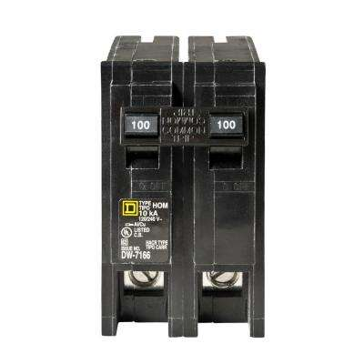 Homeline 100 Amp 2-Pole Circuit Breaker - Clear Packaging