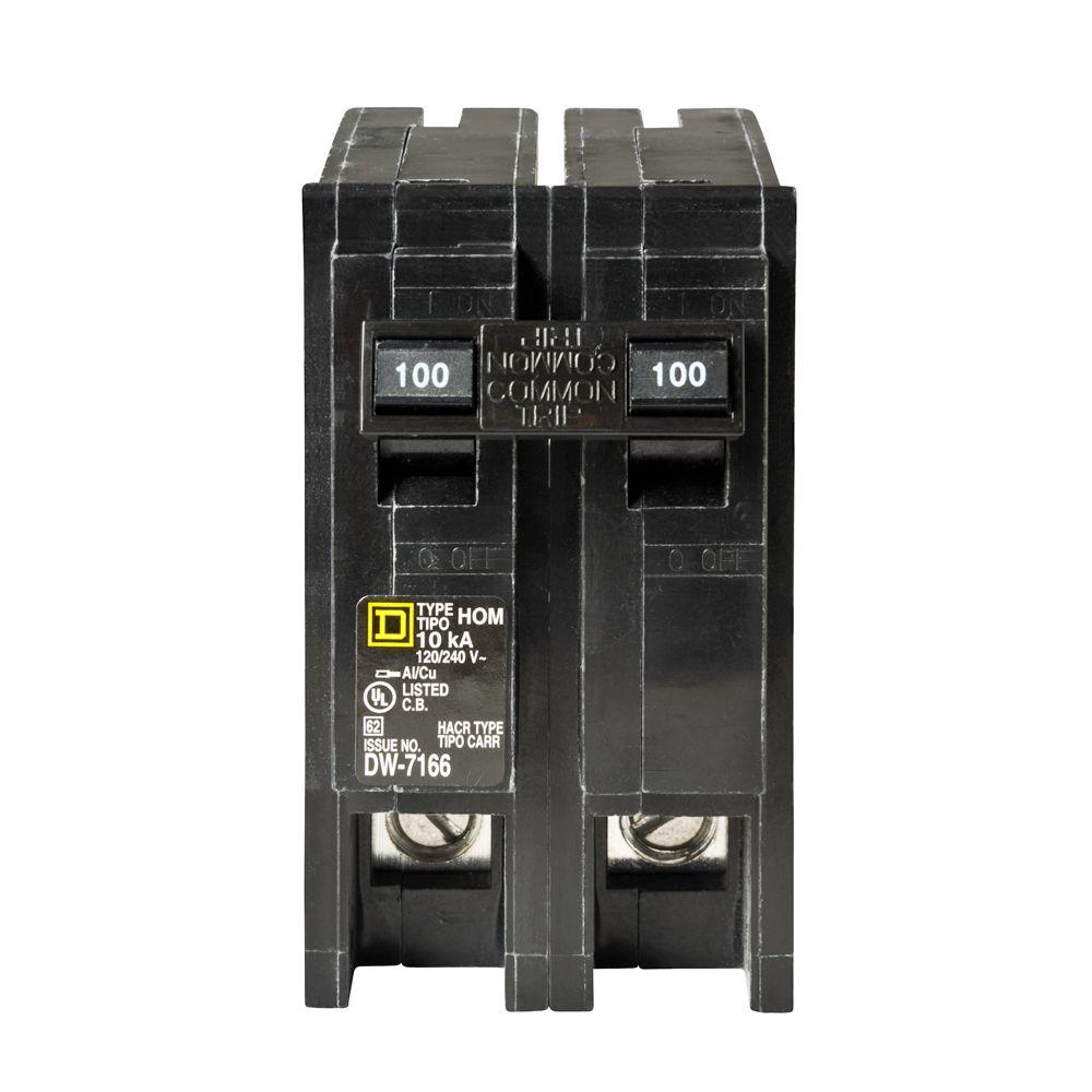 Square d homeline 100 amp 2 pole circuit breaker hom2100cp the square d power loggers square d homeline 100 amp 2 pole circuit breaker