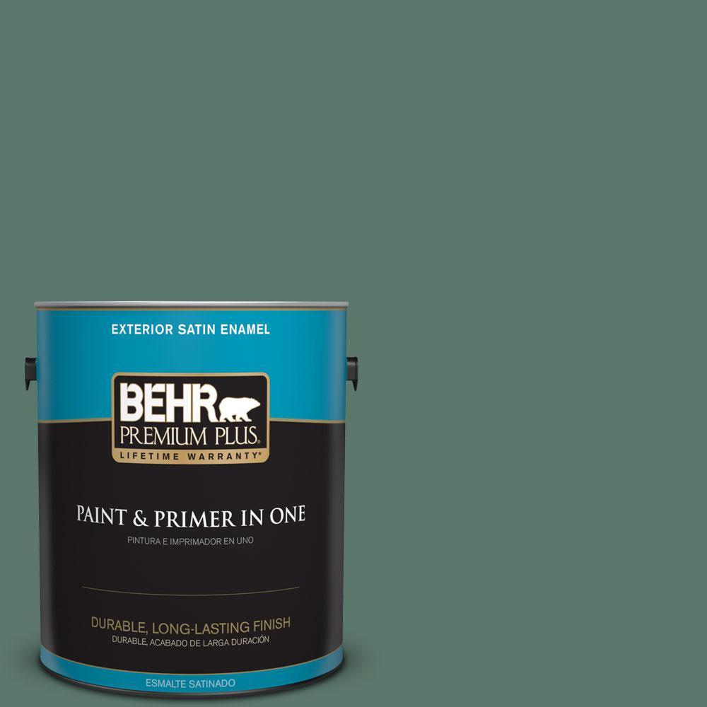 1-gal. #S420-6 Pine Brook Satin Enamel Exterior Paint