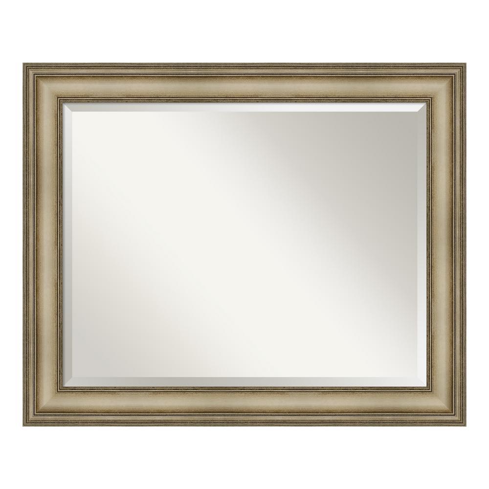 Amanti Art Mezzanine Antique Silver Decorative Wall Mirror DSW4093104