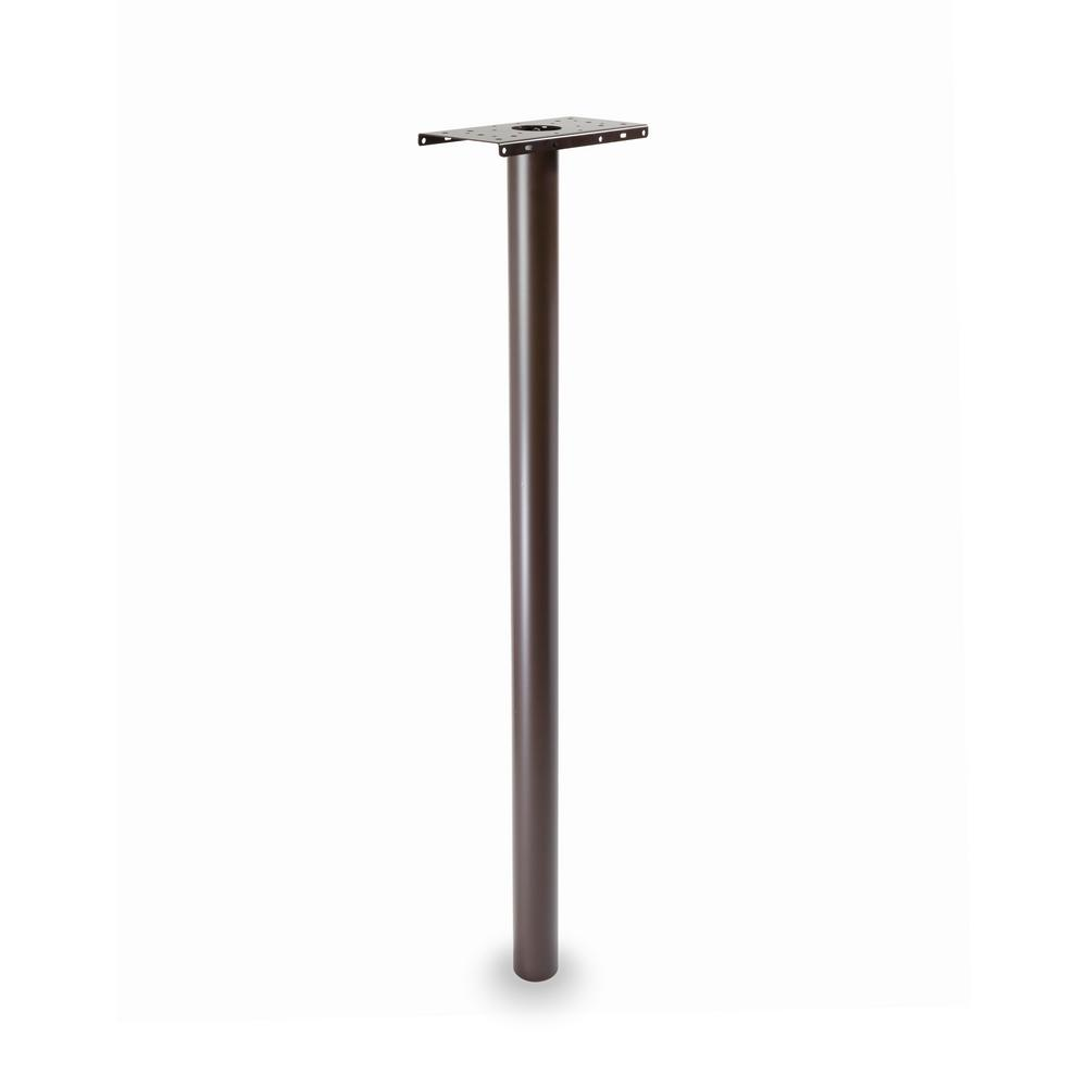 ArchitecturalMailboxes Architectural Mailboxes Pacifica 53 in. Round In Ground Post, Rubbed Bronze