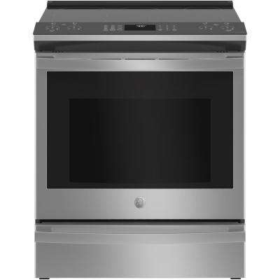Profile 5.3 cu. ft. Smart Electric Range with Self Cleaning Convection Oven in Fingerprint Resistant Stainless Steel