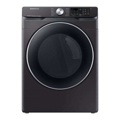 7.5 cu. ft. Fingerprint Resistant Black Stainless Gas Dryer with Steam Sanitize+