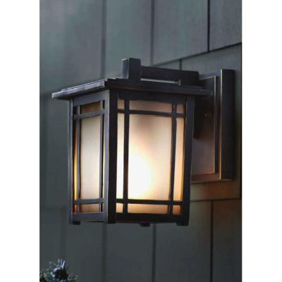 Port Oxford 1-Light Oil-Rubbed Chestnut Outdoor Wall Lantern Sconce