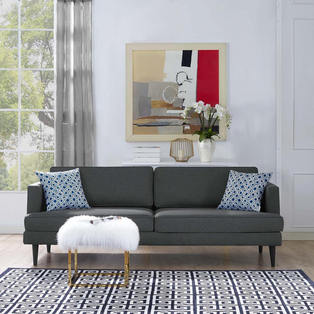 Agile Gray Upholstered Fabric Sofa