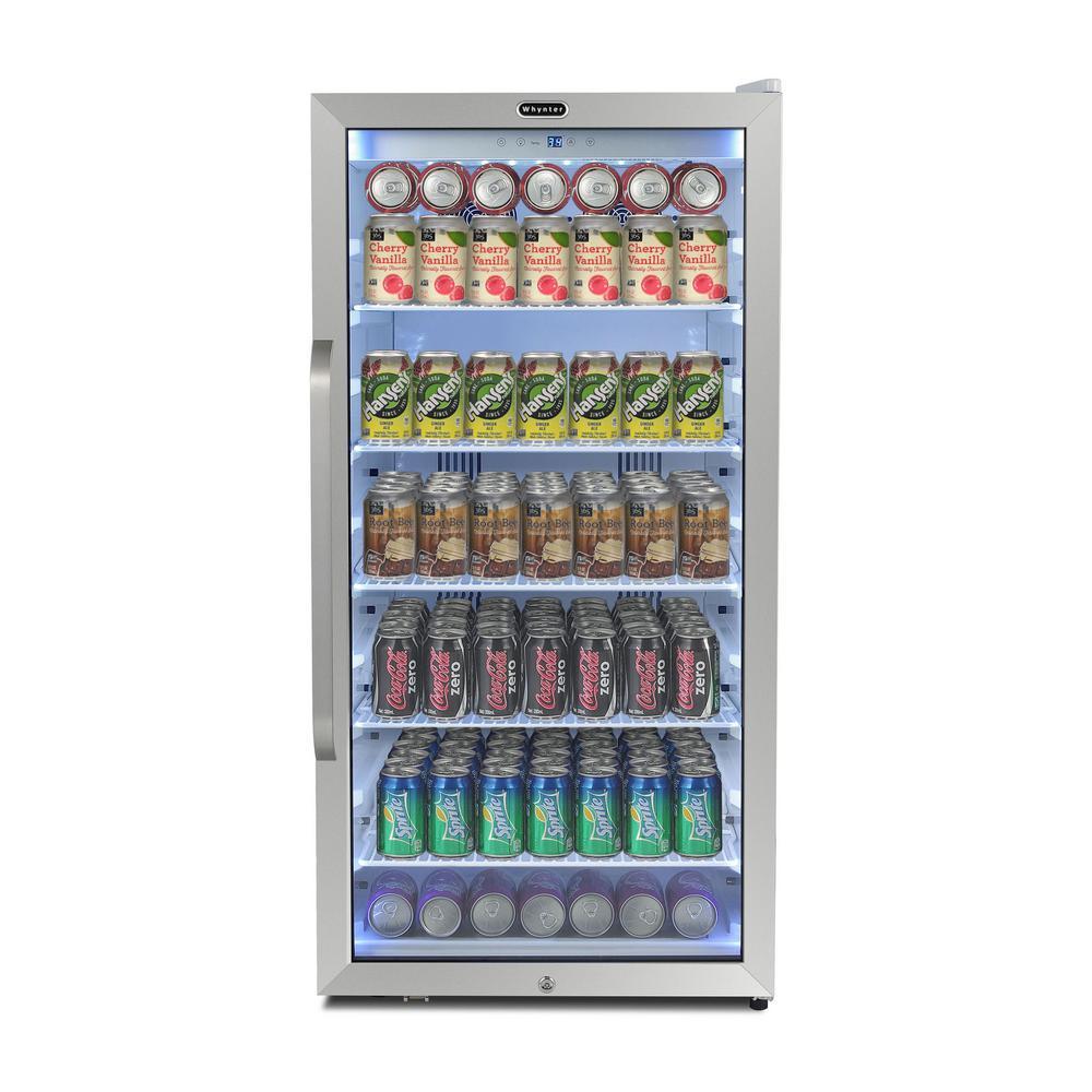 Whynter 24 in. 8.1 cu.ft. Freestanding Beverage Merchandiser Refrigerator with Superlit Door in White