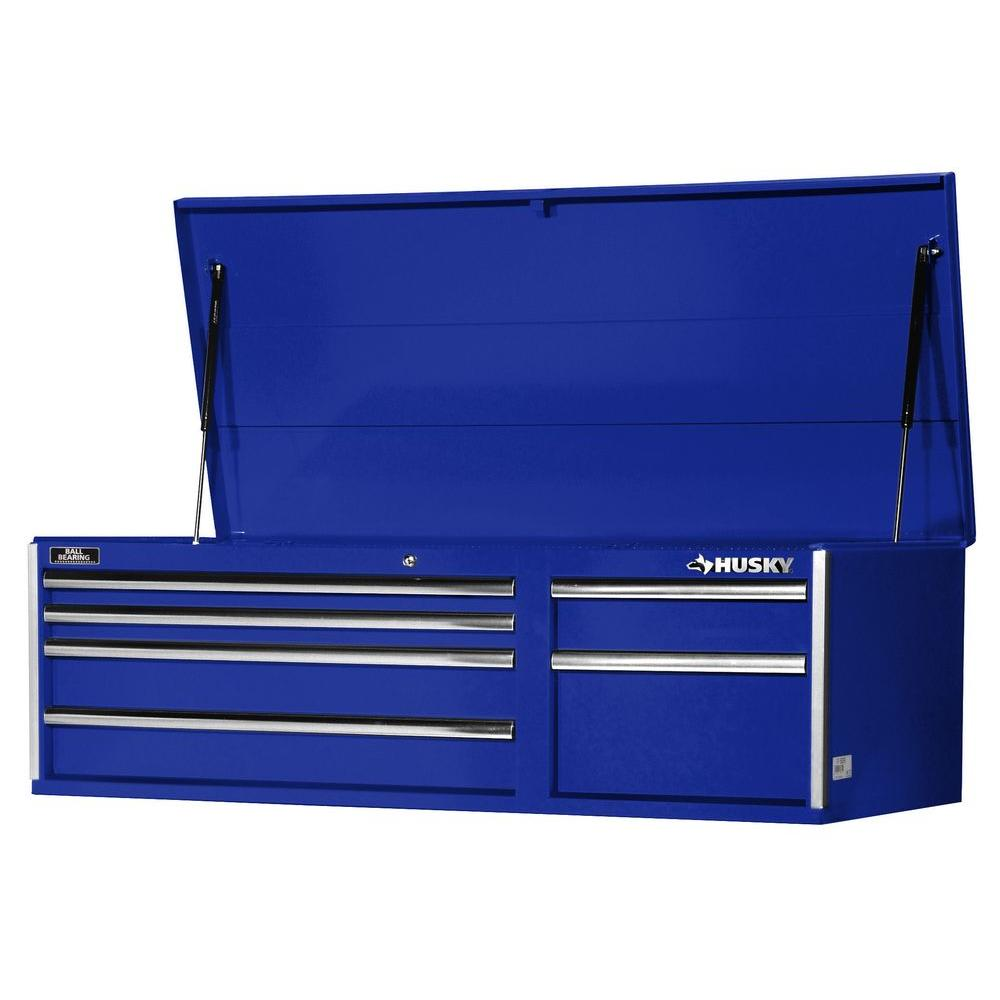 56 in. 6-Drawer Top Chest, Blue