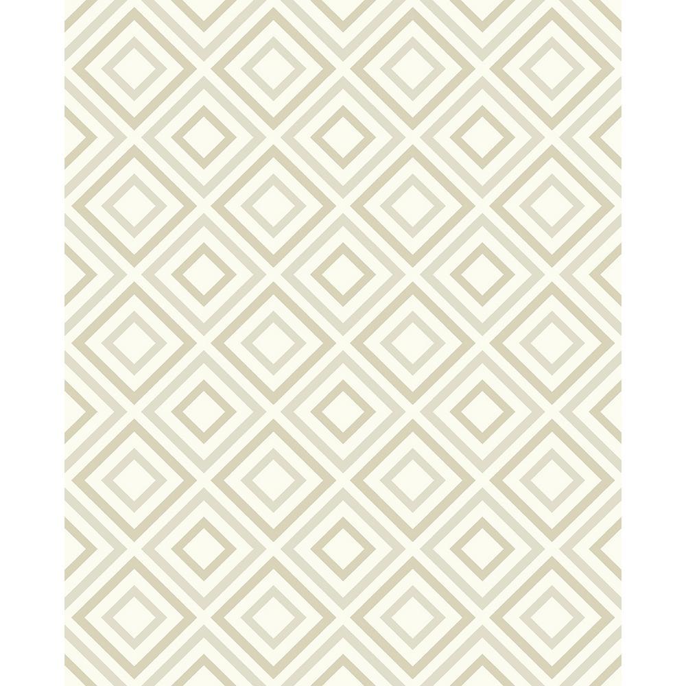 56.4 sq. ft. Horus Champagne Diamond Geo Wallpaper