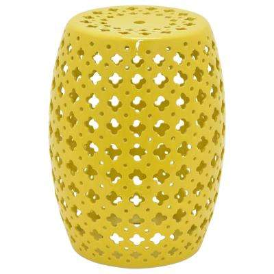 18 in. Yellow Garden Stool