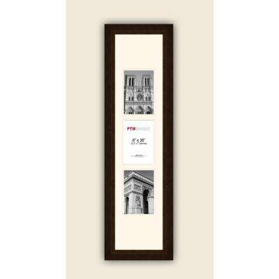 3-Opening Vertical 5 in. x 7 in. White Matted Bronze Photo Collage Frame