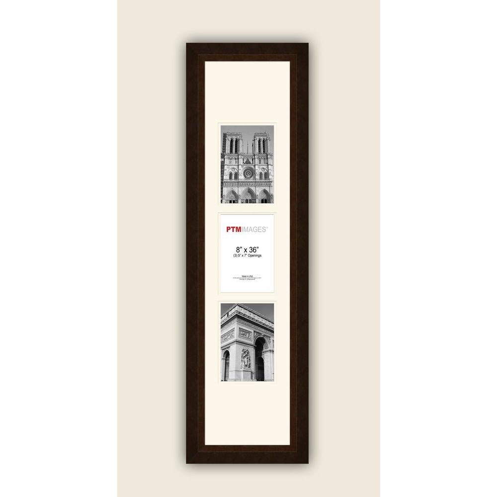 PTM Images 3-Opening Vertical 5 in. x 7 in. White Matted ...