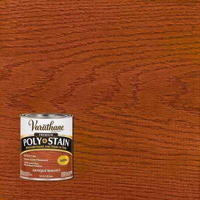 1 qt. Antique Walnut Satin Oil-Based Interior Polyurethane and Stain