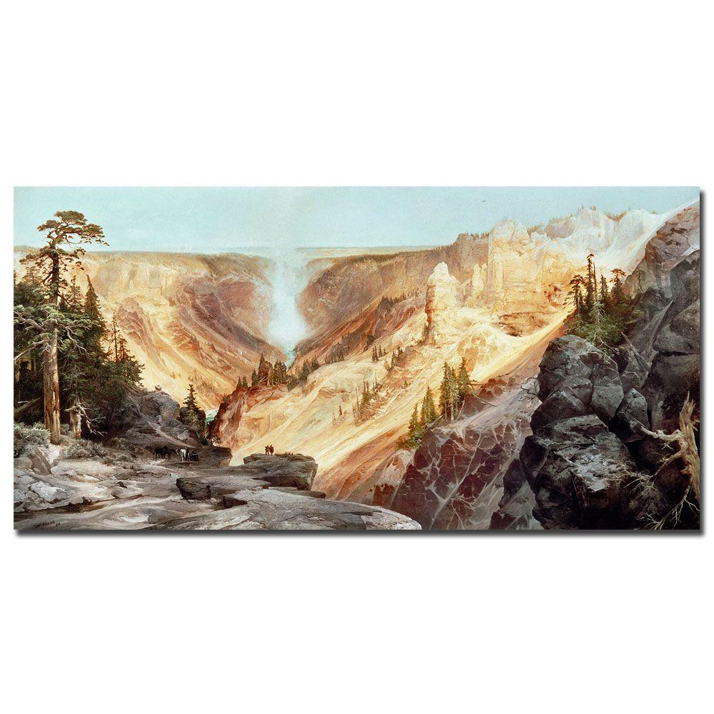 16 in. x 32 in. The Grand Canyon of Yellowstone 1872