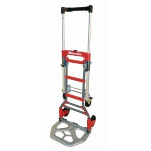 150 lb vertical and 300 lb horizontal capacity folding convertible hand truck