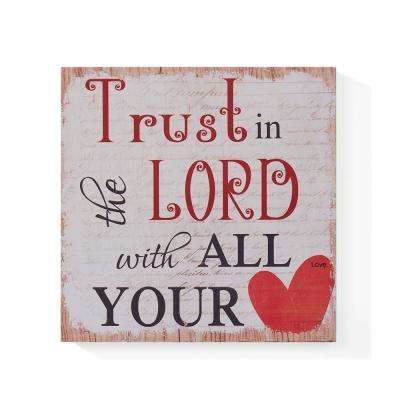 Inspirational Trust in the Lord Wooden Wall Art Sign