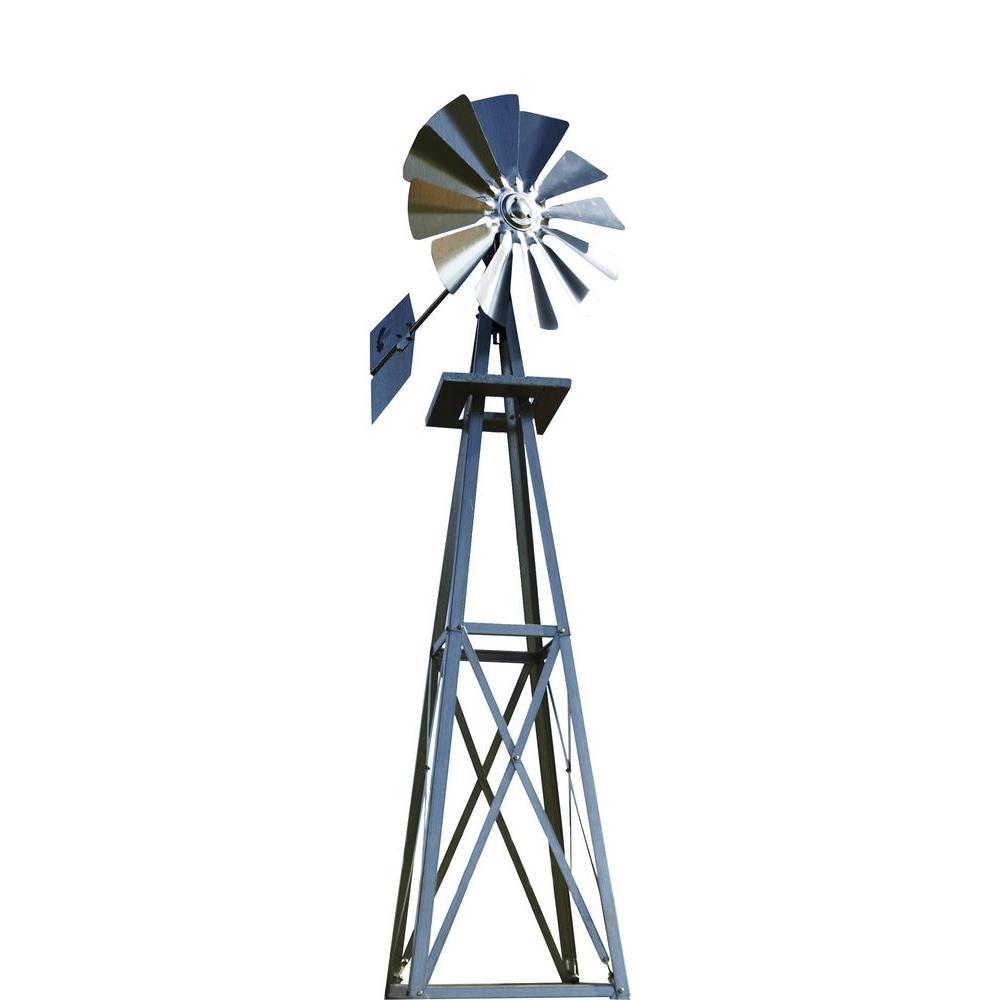 Small Galvanized Backyard Windmill