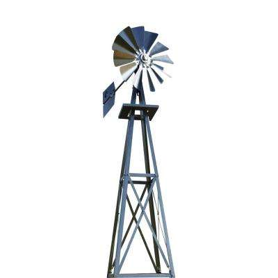 99 in. Small Galvanized Backyard Windmill
