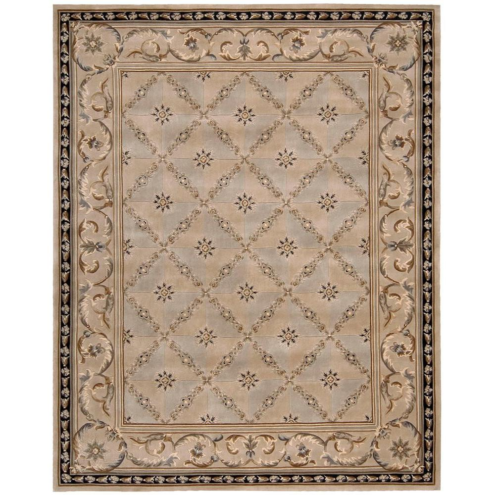 Nourison Versailles Palace Beige 9 ft. 6 in. x 13 ft. 6 in. Area Rug