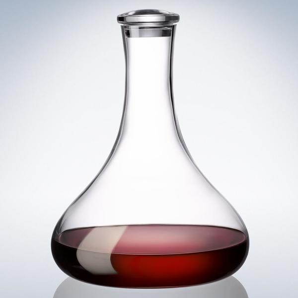 Villeroy Boch Purismo 33 75 Oz Lead Free Crystal Red Wine Decanter With Stopper 1137800235 The Home Depot