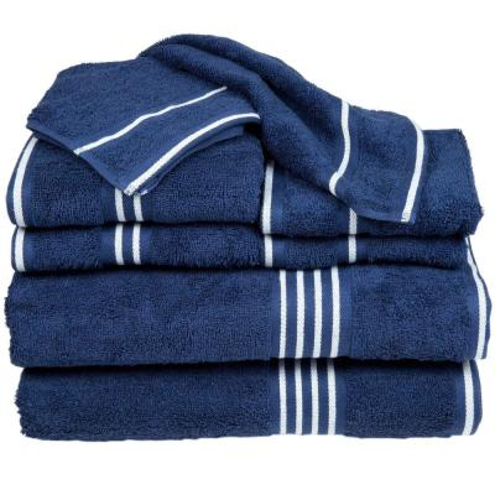 Rio Egyptian Cotton Towel Set in Navy (8-Piece)