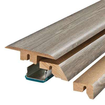 Seabrook Walnut 3/4 in. Thick x 2-1/8 in. Wide x 78-3/4 in. Length Laminate 4-in-1 Molding