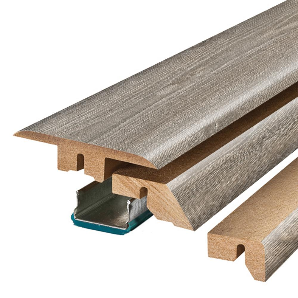 Pergo Seabrook Walnut 3/4 in. Thick x 2-1/8 in. Wide x 78-3/4 in. Length Laminate 4-in-1 Molding
