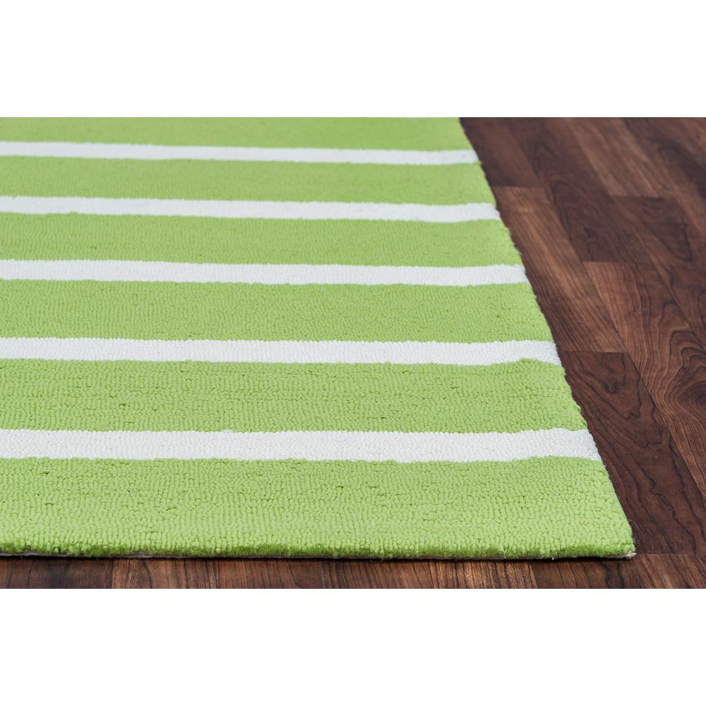 Lime Green Area Rug: Rizzy Home Azzura Hill Lime Green Striped 3 Ft. 6 In. X 5