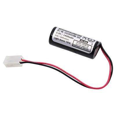 Dantona 1.2-Volt 1200 mAh Ni-Cd battery for Light Alarms - TETG Emergency Lighting