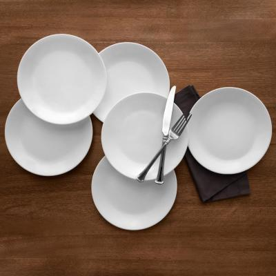 Classic 8.5 in. Winter Frost White Lunch Plates (Set of 6)