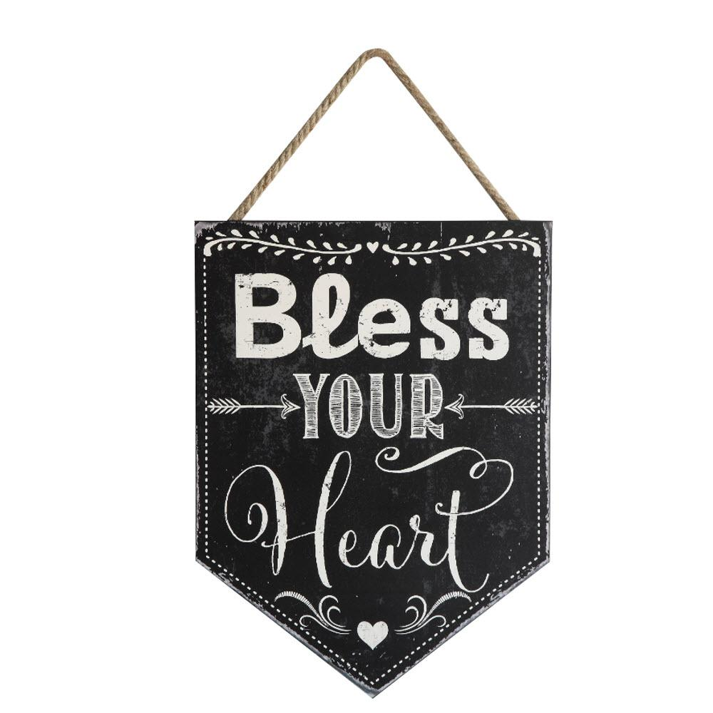 Home Decorators Collection In H X In W Bless Your Heart Wall Art 9591000210