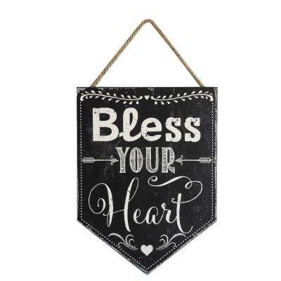 "15.75 in. H x 11.75 in. W "" Bless Your Heart"" Wall Art"