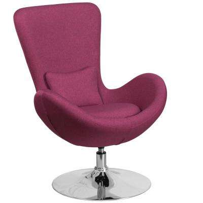 Magenta Fabric Egg Series Reception-Lounge-Side Chair