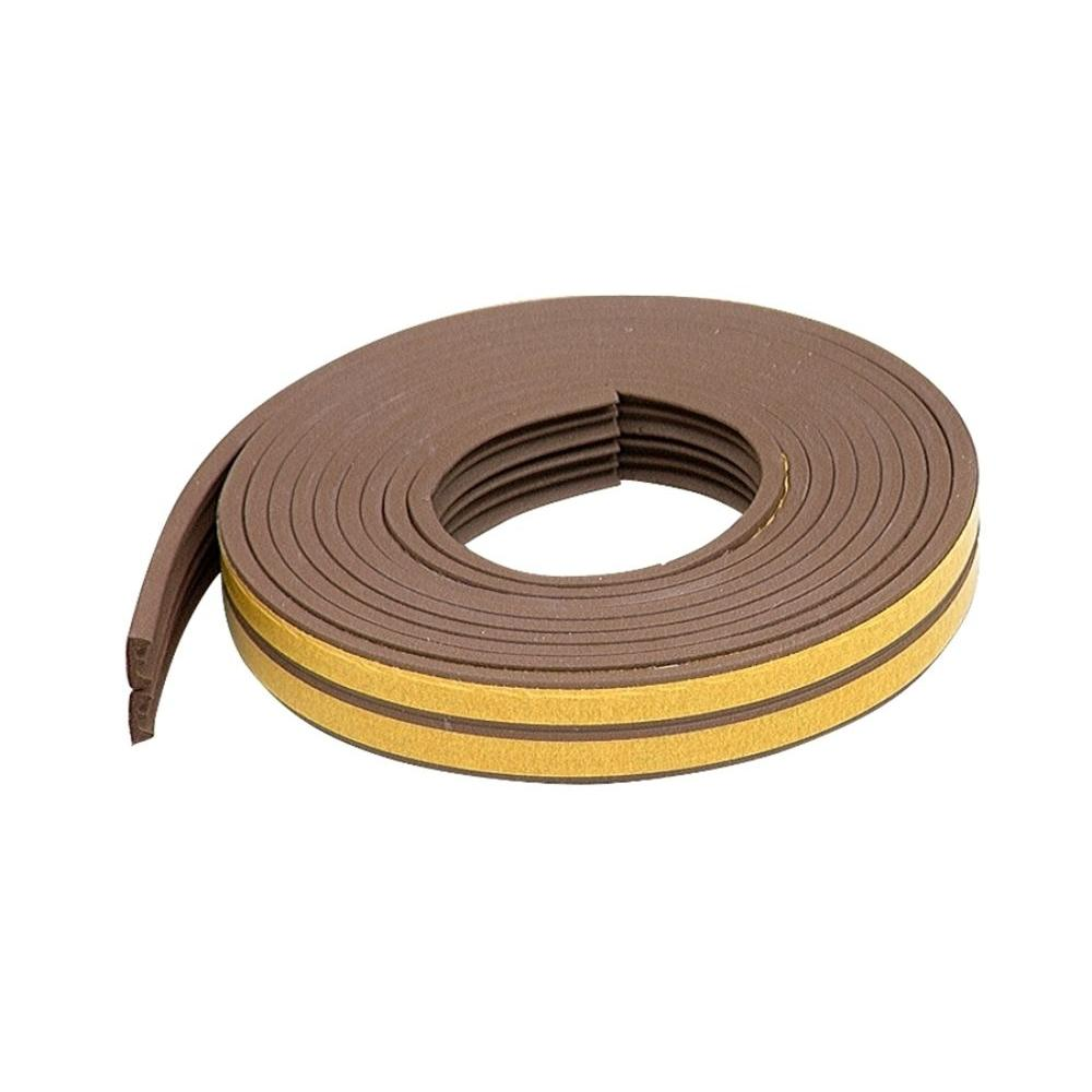 M-D Building Products E/O Premium 3/8 in. x 17 ft. Brown Weatherstrip for Extra Small Gaps (10-Year)