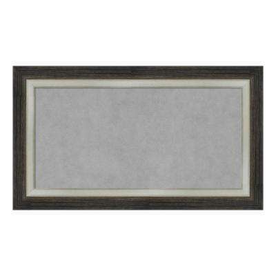 Brushed Metallic Wood Framed Magnetic Memo Board