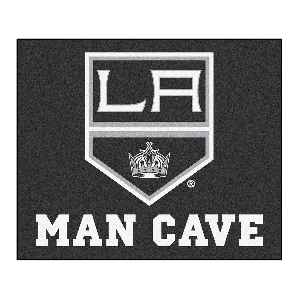 competitive price b9d8b 812eb FANMATS Los Angeles Kings Black Man Cave 5 ft. x 6 ft. Area Rug