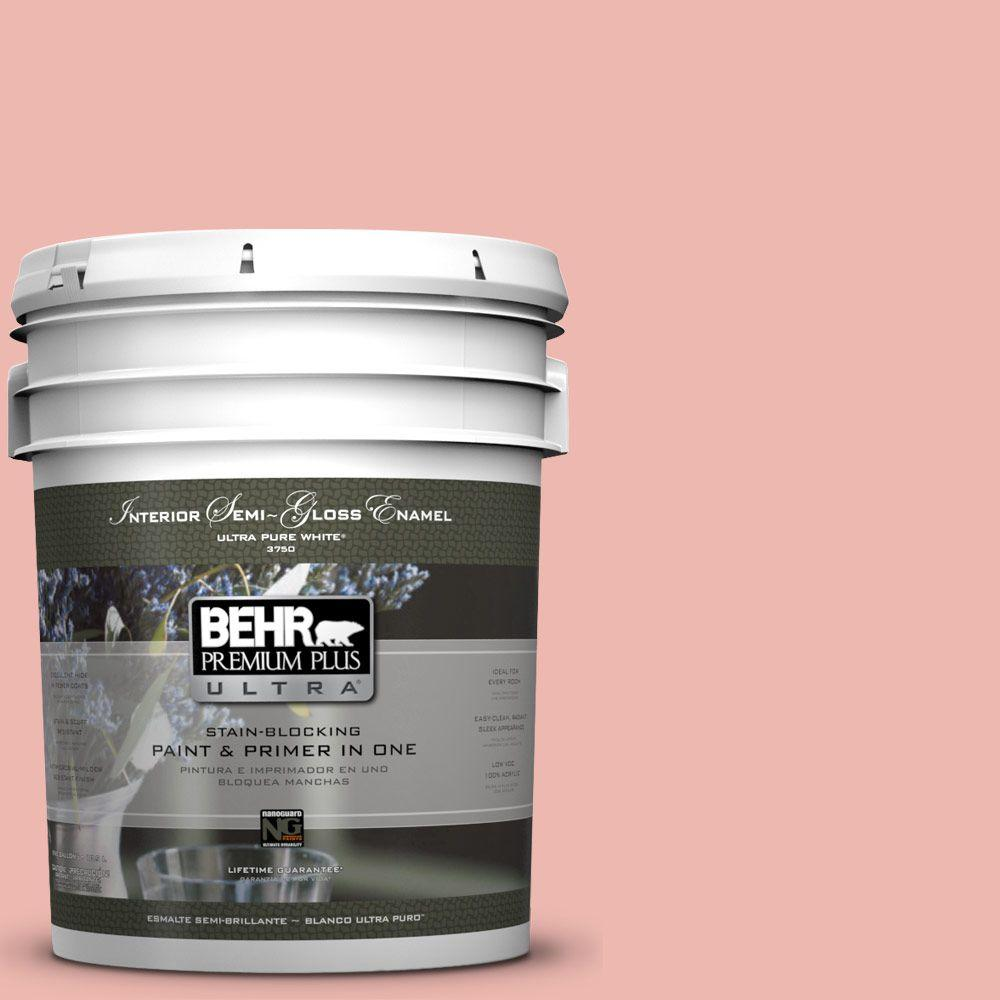 5-gal. #M170-3 Carnation Coral Semi-Gloss Enamel Interior Paint