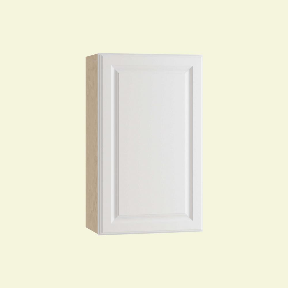 Home Decorators Collection Hallmark Assembled 21x30x12 in. Wall Kitchen Cabinet with 1 Door Left Hand in Arctic White